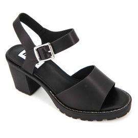 Sandales à talons semelle crantée boucle Femme MTNG marque pas cher prix dégriffés destockage