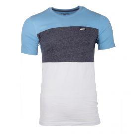 Tee shirt manches courtes colorblock tag cousu Homme JACK AND JONES marque pas cher prix dégriffés destockage
