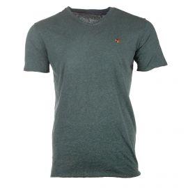 Tee shirt manches courtes chiné tag brodé Homme JACK AND JONES marque pas cher prix dégriffés destockage