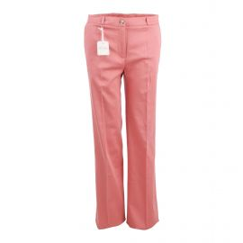 Pantalon classique large fluide coton doux stretch poches passepoilées zip Femme AMERICAN VINTAGE marque pas cher prix dégrif...