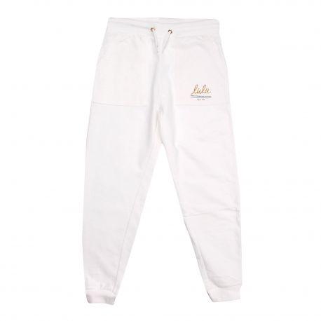 Bas de jogging poches coton doux lulu cordon Enfant LULU CASTAGNETTE marque pas cher prix dégriffés destockage