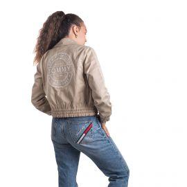 Blouson toile légère froncé poches rabat zip tag brodé dos Femme TOMMY HILFIGER