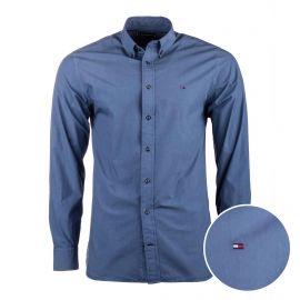 Chemise manches longues coton doux BCI col boutonné tag brodé Homme TOMMY HILFIGER