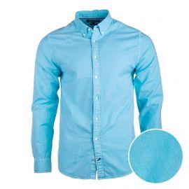 Chemise manches longues coton doux BCI coupe droite col boutonné Homme TOMMY HILFIGER
