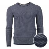 Pull manches longues coton maille fantaisie graphique Homme SELECTED