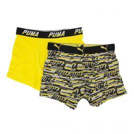 Lot de 2 boxers confort coton doux stretch rayé uni Homme PUMA marque pas cher prix dégriffés destockage