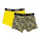 Lot de 2 boxers confort coton doux stretch rayé uni Homme PUMA