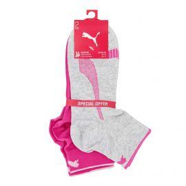 Lot de 2 paires de chaussettes coton doux stretch coutures plates orteil Femme PUMA marque pas cher prix dégriffés destockage