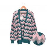 Gilet long manches longues maille ajourée Femme CARE OF YOU