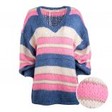 Pull long manches longues col V Femme CARE OF YOU