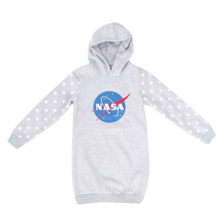 Robe manches longues capuche coton sweat jersey étoile Fille NASA marque pas cher prix dégriffés destockage