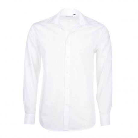 Chemise manches longues coton doux col italien brodé boutonné Homme OLD RIVER marque pas cher prix dégriffés destockage