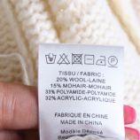 Gilet manches longues laine mohair rayures Femme LA PETITE ETOILE marque pas cher prix dégriffés destockage