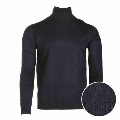 Pull manches longues roulé cachemire laine Homme CASHMERE COMPANY marque pas cher prix dégriffés destockage