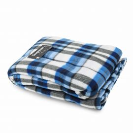 Plaid douceur à carreaux bleu/blanc 160X220 cm SINEQUANONE marque pas cher prix dégriffés destockage