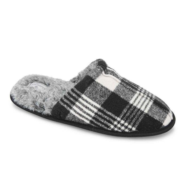 Chaussons confort moelleux fourrure écossais Homme LEE COOPER marque pas cher prix dégriffés destockage