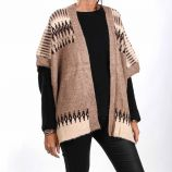 Poncho col châle mohair rayures jacquard Femme CARE OF YOU