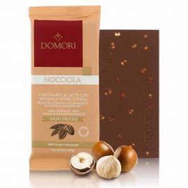 Tablette chocolat au lait et noisette 75gr DOMORI