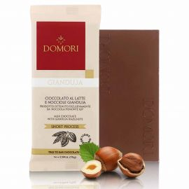 Tablette chocolat gianduja au lait 75 gr DOMORI