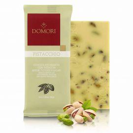 Tablette chocolat blanc et pistache 75gr DOMORI