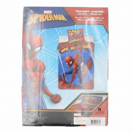 Housse de couette 140x200 + taie d'oreiller 63x63 spider man Enfant MARVEL marque pas cher prix dégriffés destockage