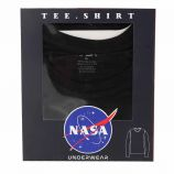 Tee shirt ml col rond basic ball Homme NASA marque pas cher prix dégriffés destockage
