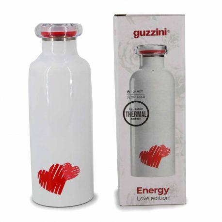Bouteille isotherme blanche love 500ml 11670465 GUZZINI marque pas cher prix dégriffés destockage