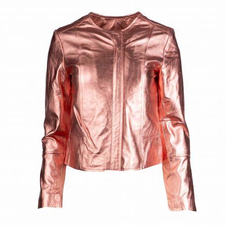 Blouson cuir juliette crystal Femme L.A.D.C. marque pas cher prix dégriffés destockage
