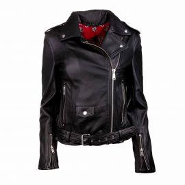 Blouson cuir diane biber black Femme L.A.D.C. marque pas cher prix dégriffés destockage