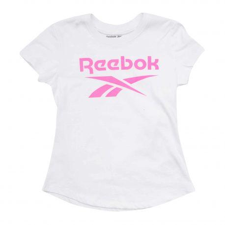 Tee shirt mc blanc ew8377 t10 a 16 ans Enfant REEBOK marque pas cher prix dégriffés destockage