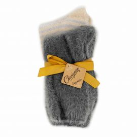 Lot de 2 paires de chaussettes cosy Cheriane Femme CHEVIGNON marque pas cher prix dégriffés destockage
