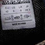 Baskets semi cuir bleu marine Homme NAPAPIJRI marque pas cher prix dégriffés destockage