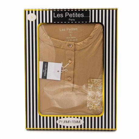 Pyjama 3 boutons paige Femme LES PETITES...PARIS marque pas cher prix dégriffés destockage