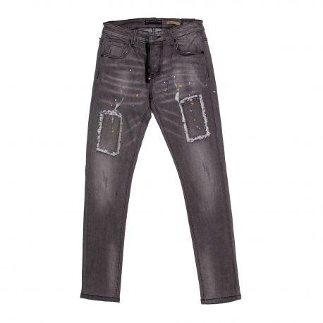 Jeans bsp37277 skinny fit black Homme BLUE SPENCER'S marque pas cher prix dégriffés destockage