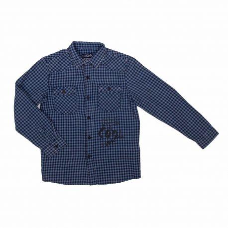 Chemise ml bleu 925-3002aa garcon du 2 au 7 ans Enfant LOSAN marque pas cher prix dégriffés destockage