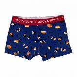 Boxer bleu imprimé coton stretch Homme JACK AND JONES