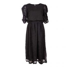 Robe mc noir slf sally 16079278 Femme SELECTED marque pas cher prix dégriffés destockage