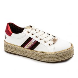 Baskets toile blanche 46gv2020 t36/41 Femme DOCKERS