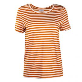 Tee shirt mc moutarde visus 14054437 Femme VILA