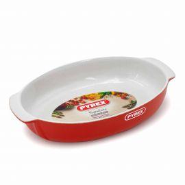 Plat ovale 30*20cm 2.1 litres rouge 7046 Mixte PYREX