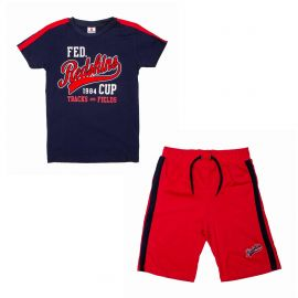 Ensemble tee-shirt mc+bermuda set180136 de 8 a 16 ans Enfant REDSKINS
