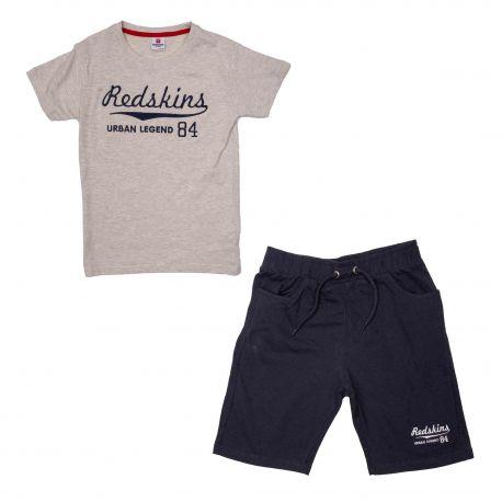 Ensemble tee-shirt mc+bermuda set302 de 6 a 12 ans Enfant REDSKINS