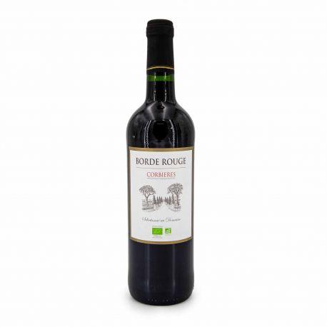 """Vin rouge AOP CORBIERES BIO 2016 """"DOMAINE BORDE ROUGE"""" 75CL 13%"""