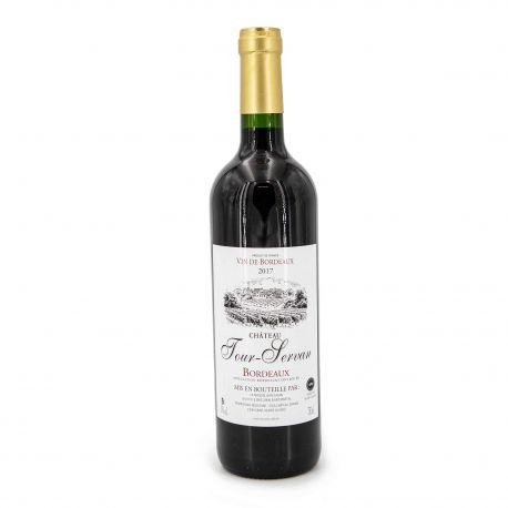 """Vin rouge AOC Bordeaux 2017 """"CHATEAU TOUR SERVAN"""" MBC 75CL 13%"""