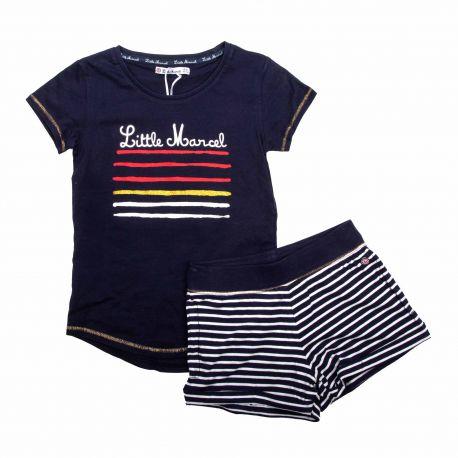 Ens. short + t.shirt Enfant LITTLE MARCEL marque pas cher prix dégriffés destockage