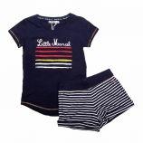 Ensemble tee shirt coton + short rayé Enfant LITTLE MARCEL