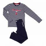 Pyjama manches longues marin rayé coton Enfant LITTLE MARCEL