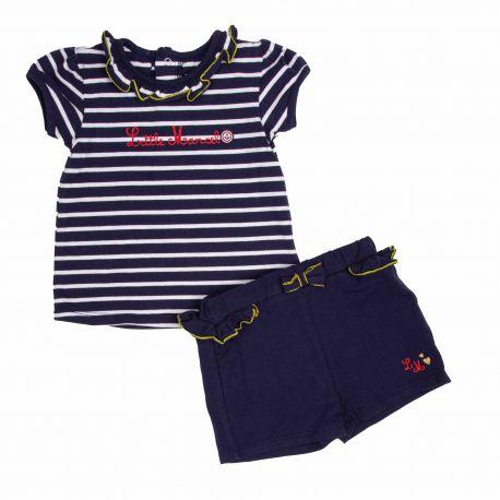 Ensemble short tee shirt Enfant LITTLE MARCEL marque pas cher prix dégriffés destockage