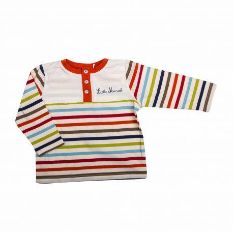 T-shirt ml Enfant LITTLE MARCEL marque pas cher prix dégriffés destockage