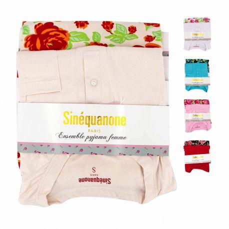 Pyjama mc pantalon fleurs pantxika Femme SINEQUANONE